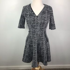 Danny & Nicole black white fit and flare dress